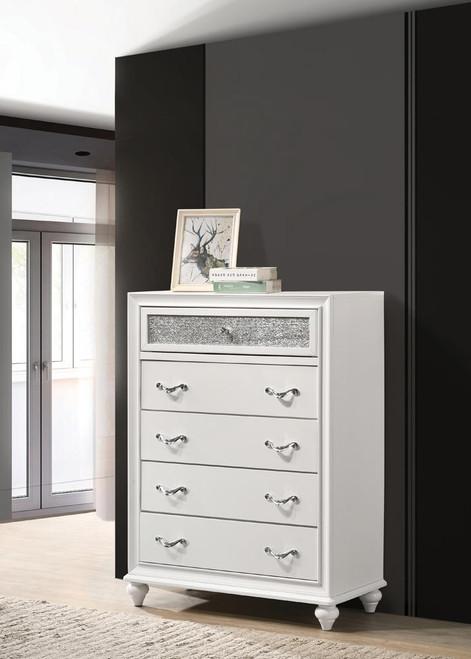 Barzini Collection - Barzini 5-drawer Chest White (205895)