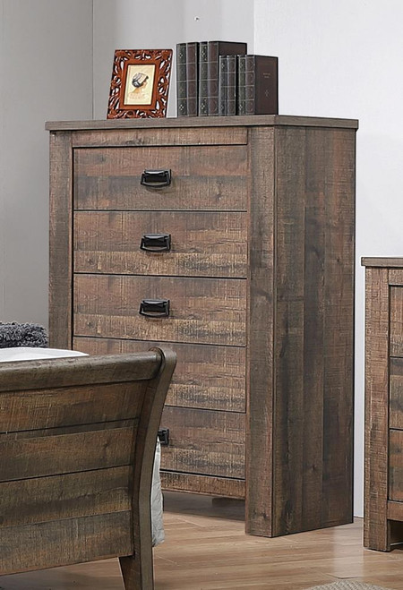 Frederick Collection - Frederick 5-drawer Chest Weathered Oak (222965)