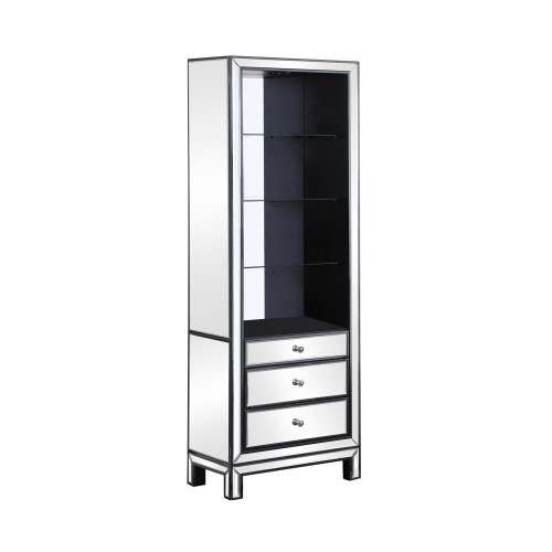 3-drawer Media Tower Black Titanium And Silver (724165)
