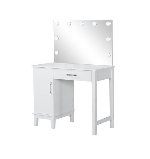 Accents : Vanities - Dark Grey - Vanity Set With Led Lights White And Dark Grey (931149)