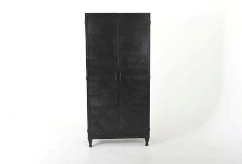 Alsace 2-door Iron Tall Accent Cabinet Vintage Black (951778)