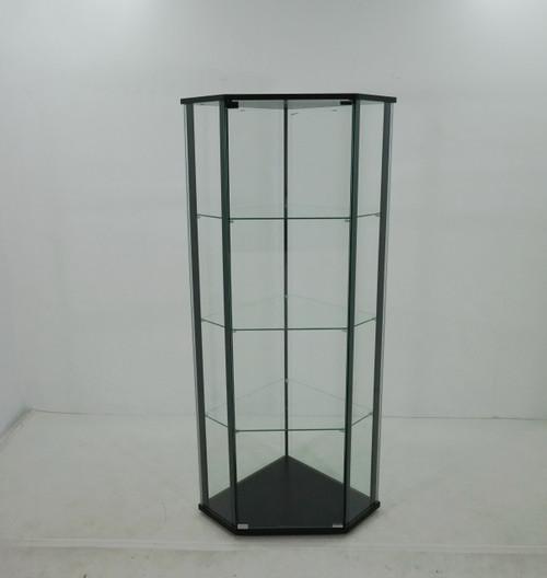 Glass Shelf Curio Cabinet Clear And Black (953234)