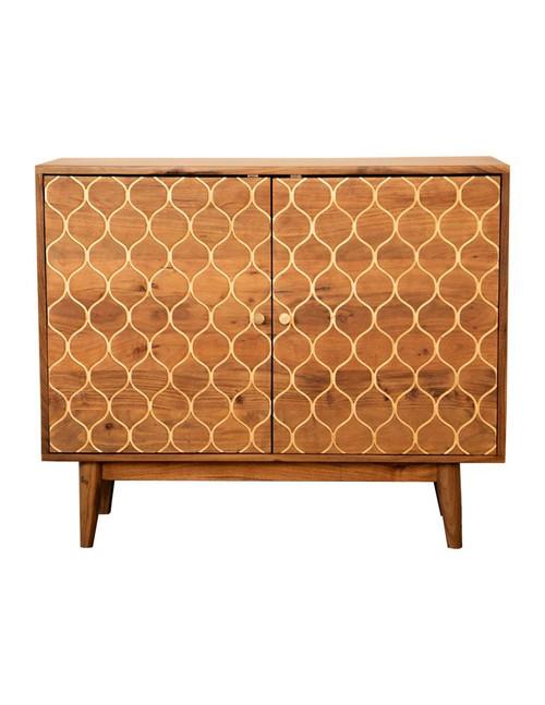 Rectangular 2-door Accent Cabinet Natural (953390)