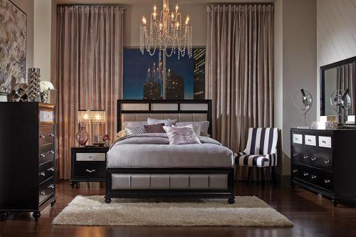 Barzini Transitional Queen Five-piece Bedroom Set (200891Q-S5)