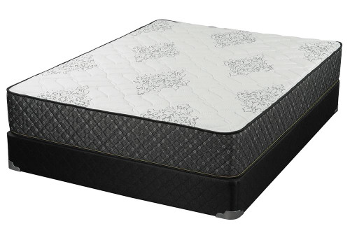 """Aspen Firm Mattress - White / Grey - Aspen 12.25"""" Full Mattress White And Black (350381F)"""