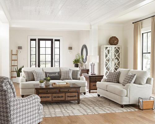 Glenn Collection - Glenn 2-piece Cushion Back Living Room Set Light Grey (511094-S2)