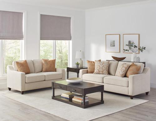 Beige - 3pc (sofa+love+chair) - (552061-S3)