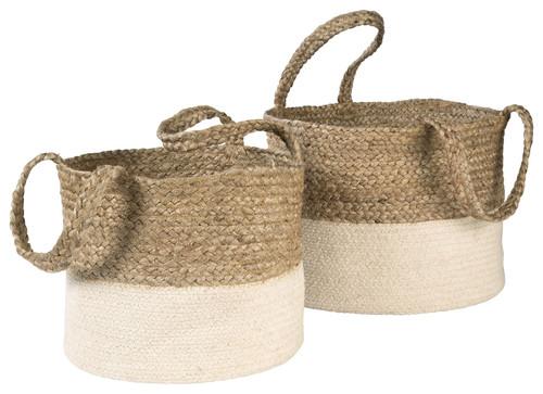 Parrish Natural/White Basket Set (2/CN)