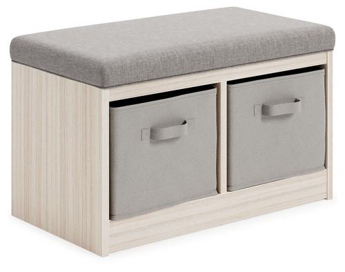Blariden Gray/Natural Storage Bench