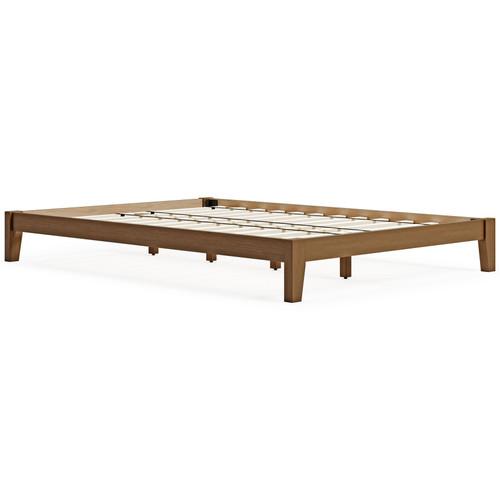 Tannally Light Brown Full Platform Bed