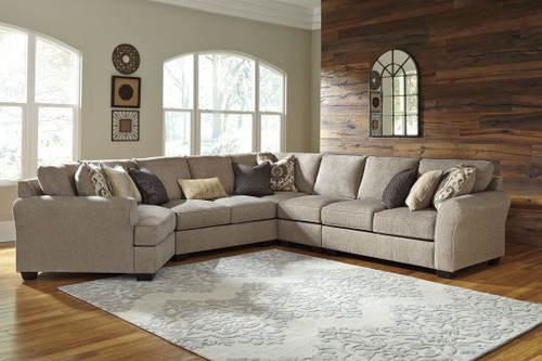 Pantomine Driftwood LAF Cuddler, Armless Loveseat, Wedge, Armless Chair, RAF Loveseat Sectional