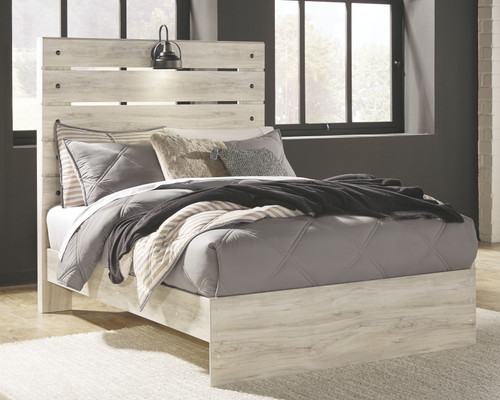Cambeck Whitewash Full Panel Bed