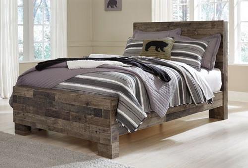 Derekson Multi Gray Full Panel Bed