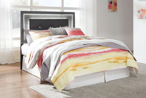 Lodanna Gray Full Upholstered Panel HDBD with Bolt on Bed Frame