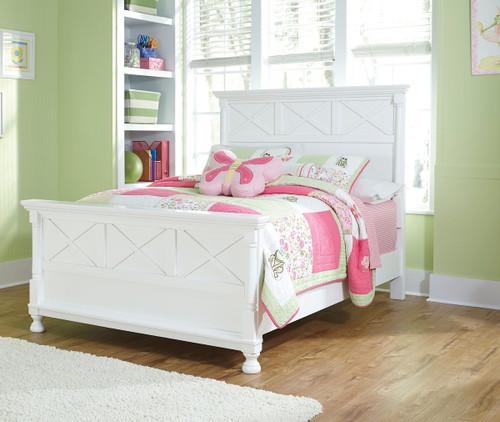 Kaslyn White Full Panel Bed