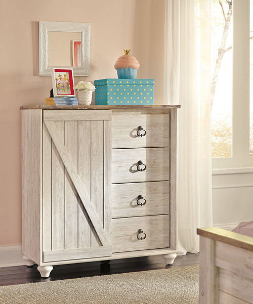 Willowton Whitewash Dressing Chest