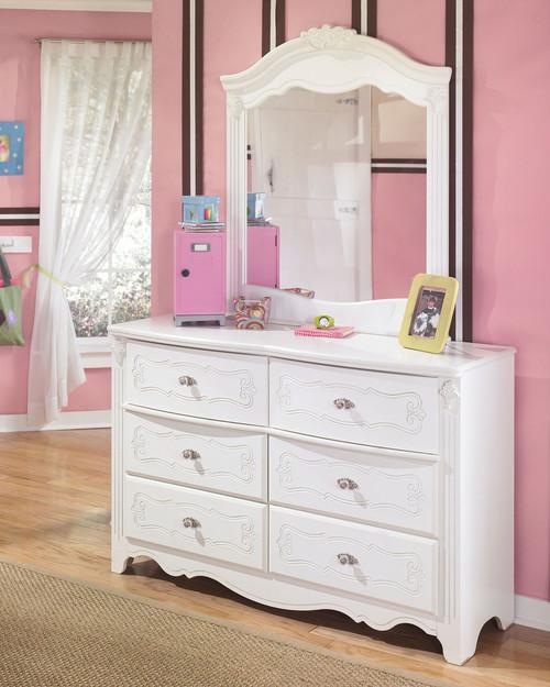 Exquisite White Dresser & Mirror