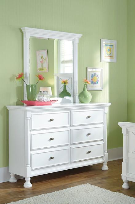 Kaslyn White Dresser & Mirror
