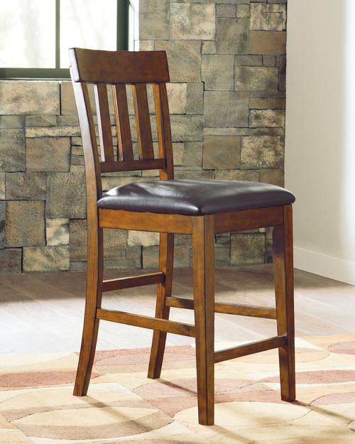 Ralene Medium Brown Upholstered Barstool (Set of 2)