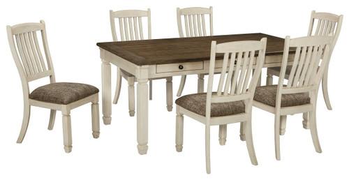 Bolanburg Antique White 7 Pc. Rectangular Table & 6 Upholstered Side Chairs
