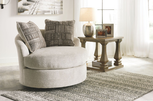 Soletren Stone Swivel Accent Chair