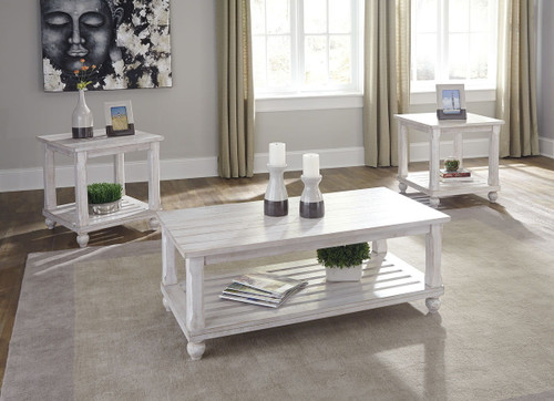 Cloudhurst White Occasional Table Set (3/CN)