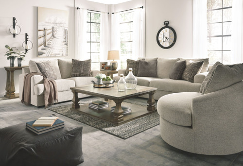 Soletren Stone Sofa, Loveseat & Swivel Accent Chair