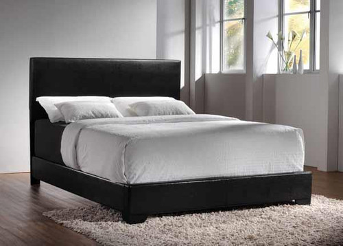 Conner Casual Black Upholstered Full Bed