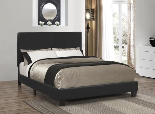 Mauve Upholstered Black Full Platform Bed