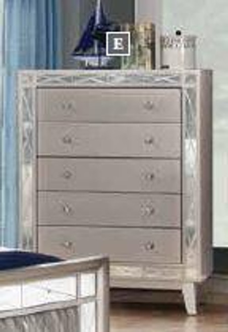 Leighton Contemporary Five-Drawer Chest