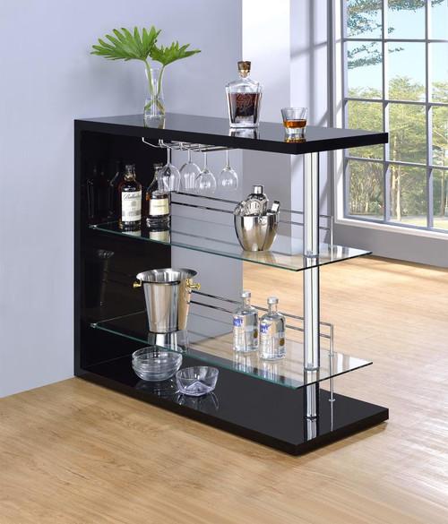 Contemporary Black Bar Unit