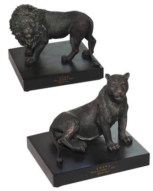 Smithsonian Lion and Lioness Bookends View Product Image
