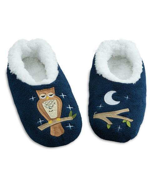 Women's Night Owl Slippers View Product Image