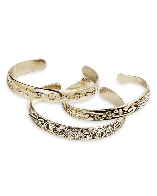 Miao Silver Flower Cuffs View Product Image