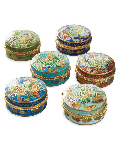Cloisonné Butterfly Boxes View Product Image