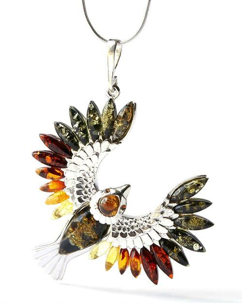 Baltic Amber Falcon Necklace View Product Image