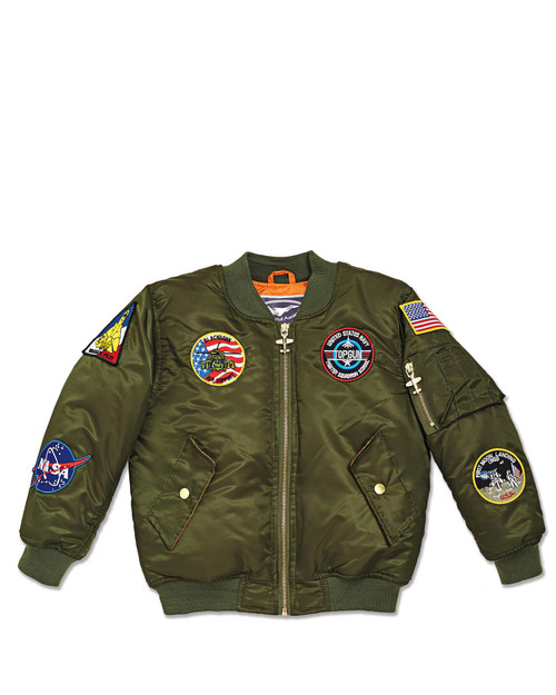 7-Patch Kid's MA-1 Flight Jacket View Product Image