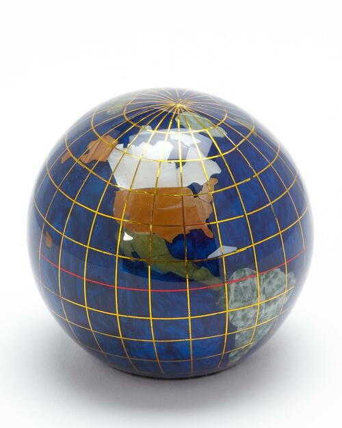 Smithsonian Blue Mineral Globe Paperweight View Product Image