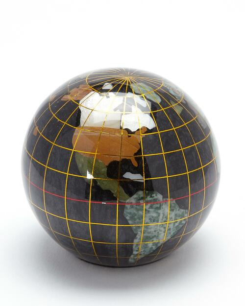 Smithsonian Black Mineral Globe Paperweight View Product Image