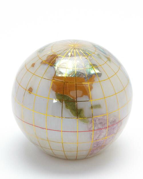 Smithsonian White Mineral Globe Paperweight View Product Image