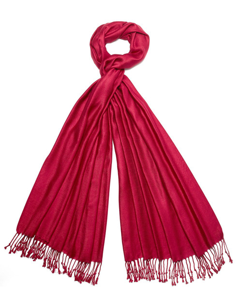Pomegranate Silk and Wool Shawl View Product Image