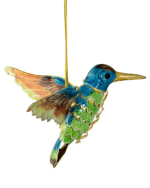 Cloisonné Handmade Hummingbird Ornament View Product Image