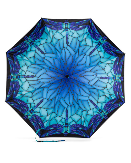 """""""Stained Glass"""" Dragonfly Umbrella View Product Image"""