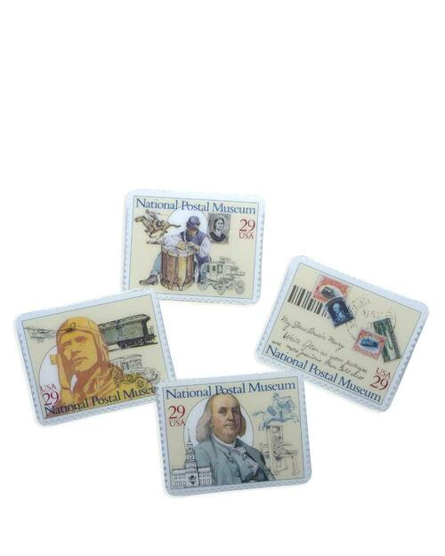 Set of 4 National Postal Museum Stamp Pins View Product Image