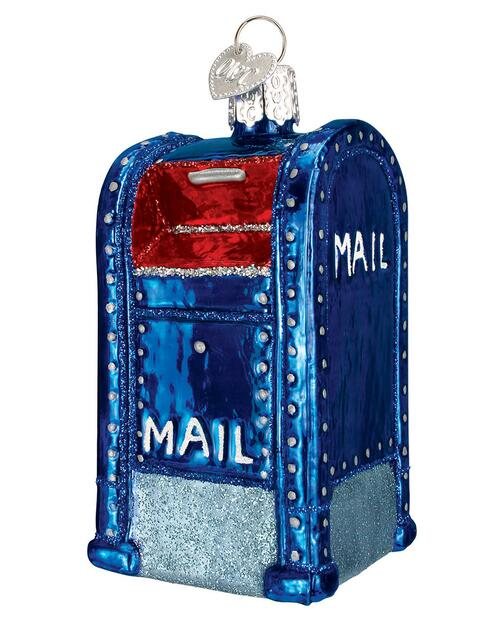 USPS Glass Mail Box Ornament View Product Image
