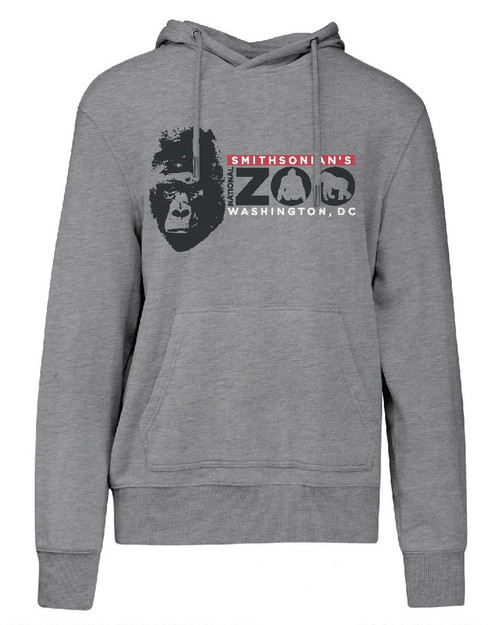Smithsonian Gorilla Face Adult Hoodie View Product Image
