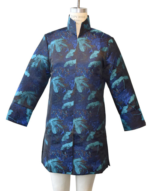 Blue and Black Floral Topper View Product Image