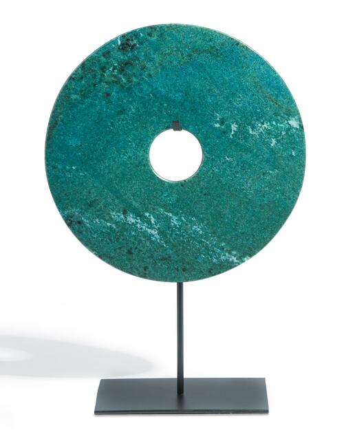 Jade Disk on Stand View Product Image