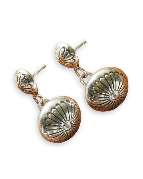 Navajo Floral Bead Sterling Earrings View Product Image