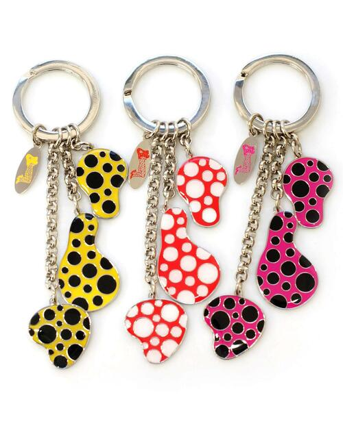 Yayoi Kusama Dots Obsession Key Ring View Product Image